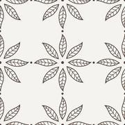 Vector Flower Pattern - stock illustration