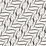 Vector seamless pattern of the elements of curved lines - stock illustration