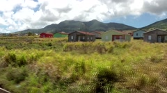 St. Kitts 021 country side of Caribbean island seen from train in motion - stock footage
