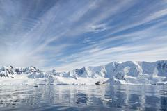 A polar research vessel in the Antarctic Stock Photos