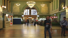 Russia.Moscow -2013: The interior of the Kievsky Railway Terminal Stock Footage