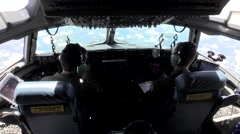 C-17 Globemaster Cargo Drop and Low-level Maneuvers Stock Footage