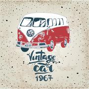 Stock Illustration of Vintage design for metal sign, baner, ad. Classic Garage effects