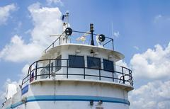 Ferry con/conning/control tower Stock Photos