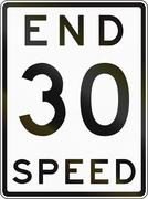 Stock Illustration of Historic End Speed Limit Sign In Australia