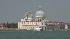 Bacino San Marco canal with boats Stock Footage