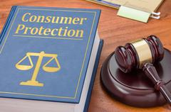 Stock Photo of A law book with a gavel - Consumer Protection