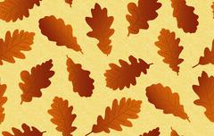 Seamless background with oak leaves Piirros