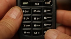 Sending a text message the old way Stock Footage