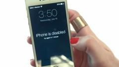 Iphone 5s (White) Locked.mp4 Stock Footage