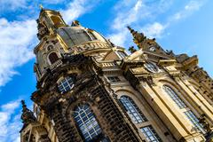 Church of Our Lady in Dresden Stock Photos