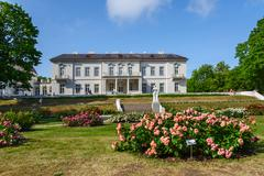 Amber Museum, a rose garden, Palanga, Lithuania Stock Photos