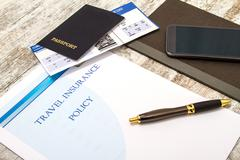 Travel insurance policy Stock Photos