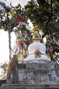 Buddhist stupa - Buddhist place of worship - stock photo