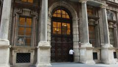 The entrance of the Egyptian museum in Turin, Italy Stock Footage