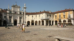 The Central square of Venaria Reale. Turin, Italy Stock Footage