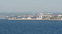 views of Sevastopol from the sea - stock footage