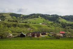 Stock Photo of Beautiful spring landscape in Carpathians mountains. Ukraine.