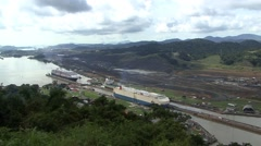 Cargo ship Panama Canal Time-lapse Stock Footage