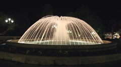 Stock Video Footage of Fountain with lights at night in Monaco