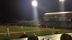Baseball Stadium Slow Pan to Strike Three Stock Footage