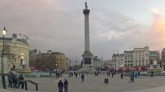 Stock Video Footage of Trafalgar Square Time Lapse