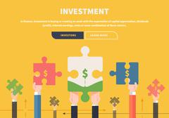 Stock Illustration of Concept Business. Attraction of Investments