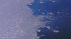 Aerial view of Ice in the Arctic Ocean - stock footage