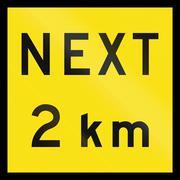 Next 2 km In Australia - stock illustration