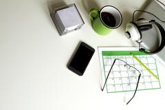 Organizing appointments - stock photo