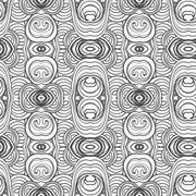 Stock Illustration of Abstract seamless ornament pattern. the kaleidoscope effect. Ethnic damask mo