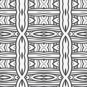 Abstract seamless ornament pattern. the kaleidoscope effect. Ethnic damask mo - stock illustration