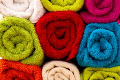 Towels background - stock photo