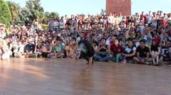 Break Dancing On The Street, B-girl - stock footage