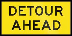 Detour Ahead In Australia - stock illustration
