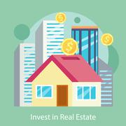 Stock Illustration of Invest in Estate Built Offices, Apartments, Houses