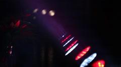 Backstage lights and fog smoke Stock Footage