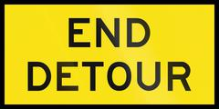 Stock Illustration of End Detour In Australia