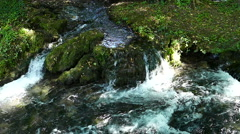 Mountain river cascades Slow motion - stock footage