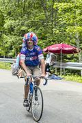 Funny Amateur Cyclist During Le Tour de France 2014 - stock photo