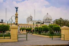 La Libertad Plaza in San Salvador - stock photo