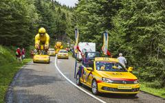 LCL Caravan During Le Tour de France 2014 - stock photo