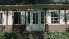 Library in New England, Sherman, CT picturesque exterior building Stock Footage