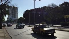 Cars on Vedado district in Havana, Cuba Stock Footage