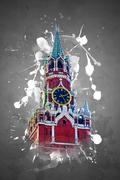 Kremlin in Moscow Piirros