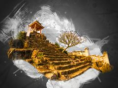 Ninh Binh, Vietnam - stock illustration