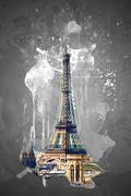Stock Illustration of Eiffel tower