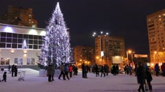 Christmas tree near Capital mall Stock Footage