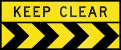 Chevron Alignment To The Right - Keep Clear In Australia Stock Illustration