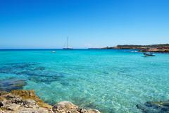 Cala Conta beach in San Antonio, Ibiza Island, Spain Kuvituskuvat